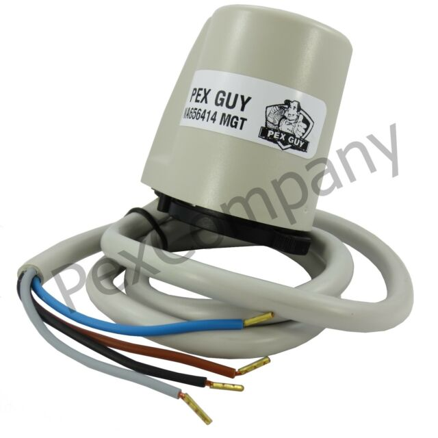 (10) 24V PEX GUY 4-wire Thermostatic Actuator w/ Auxiliary Microswitch (Italy)