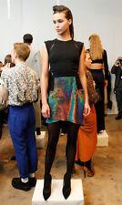 Daniella Kallmeyer M Outer Space Print Silk Cutout Dress Runway Fall 2012 RARE