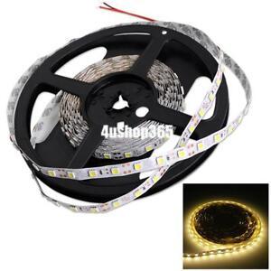 led 3528 smd warmwei lichtband licht strip leiste band streifen deko dc 12v 5m ebay. Black Bedroom Furniture Sets. Home Design Ideas