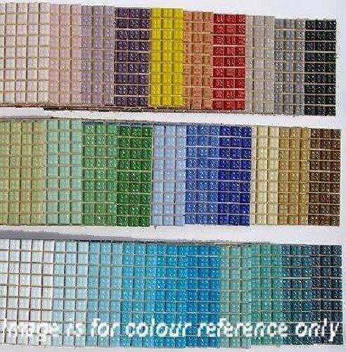 540 Craft Vitreous Glass Mosaic Tiles 1x1cm 30 Different Colours