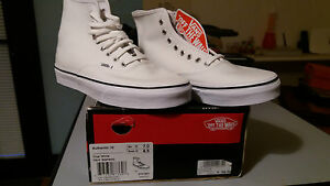 VANS-Authentic-Hi-uomo-donna-sneaker-alte-mod-RQFW00-tg-39-col-True-White
