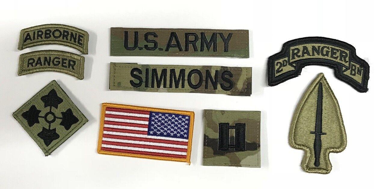 9 US ARMY patch Set Scorpion Multicam OCP Special Forces Ranger Konvolut USA