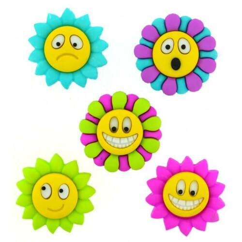 FLOWERS Jesse James Buttons ~ Dress It Up HOW U DOING 6969 Sewing Crafts