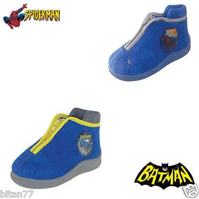 Spiderman Slippers Batman Slippers Zipper Closure Comfort Winter Boys Slippers