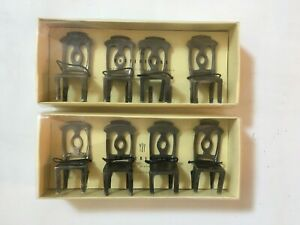 Pottery-Barn-Napolean-Chair-Placecard-Holders-Set-of-8-CAST-Metal-Chairs