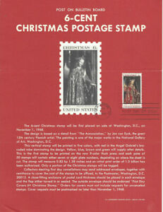 1363-6c-Christmas-Madonna-Stamp-Poster-Unofficial-Souvenir-Page-FD-MC