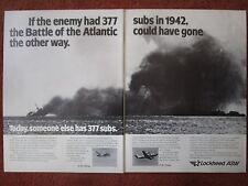 10/1982 PUB LOCKHEED ASW S-3A VIKING P-3C ORION BATTLE OF ATLANTIC SUBMARINE AD