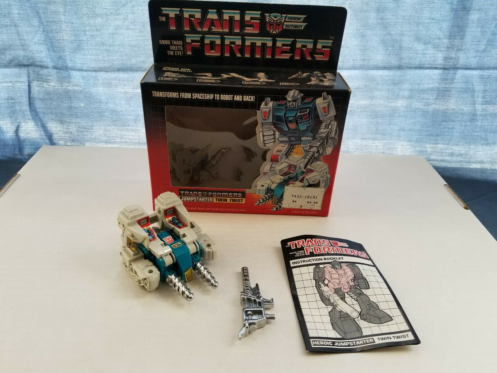 Transformers G1 - Original - - - Twin Twist - Complete with Box - Hasbro bf674a