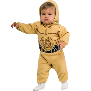 Kids C-3PO Costume Childs Infant Toddler Star Wars Fancy Dress C3PO ... 00206a16bb4b