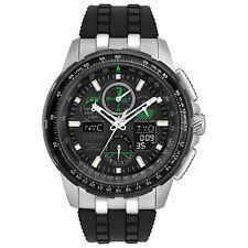 Citizen Eco-Drive Men's JY8051-08E Skyhawk A-T Black Rubber Strap 47mm Watch