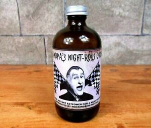 GRANDPA'S NIGHT-ROUS OXIDE vintage Munsters DRAGULA BOTTLE Herman RAT ROD Koach