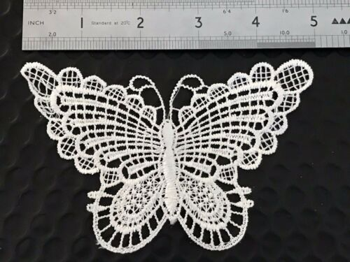 IVORY LACE BUTTERFLIES SCRAPBOOKING FASHION MIXED MEDIA EMBROIDERY CRAFT ALTERED