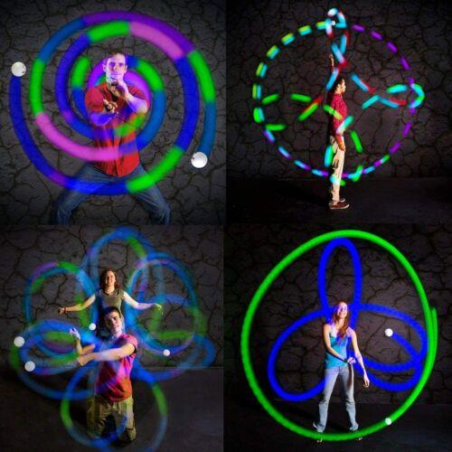 Spinballs Flow Poi Balls Fun in Motion Spinning LED Light Toy