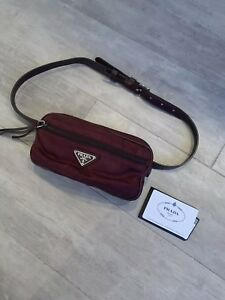 1bcfa245910 Image is loading Authentic-Prada-Belt-Bag-Oxblood