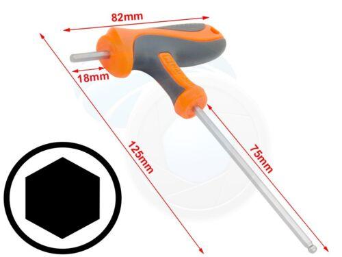 3 mm T-Poignée Hexagonale COUPLE 6 Point Clé Hexagonale Crv Cvr Tournevis Clé