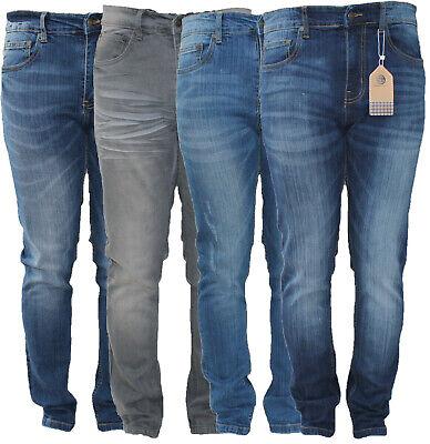 Sg Designer Mens Skinny Slim Fit Stretch Casual Jeans Denim Trouser Waist Pant