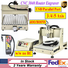 Usbparallel 345axis 3040 Router Engraver Mill Engraving Machine 400800w 110v