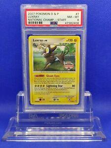 Luxray-STAFF-PSA-8-2007-D-amp-P-National-Championships-Staff-Promo-Pokemon