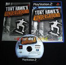 TONY HAWK'S UNDERGROUND 1 Ps2 Versione Italiana 1ª Edizione ••••• COMPLETO
