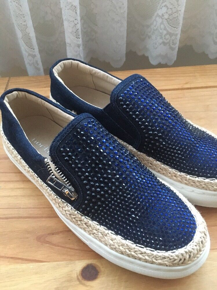 Ladies bluee Sequin Studded Northstar shoes Size 38 BNWOT