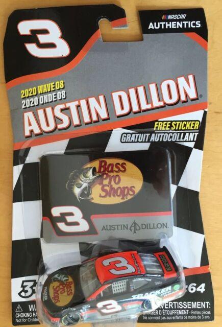 Austin Dillon #3 NASCAR Authentics Bass Pro Shops 2020 Wave 8 1/64 Die-Cast