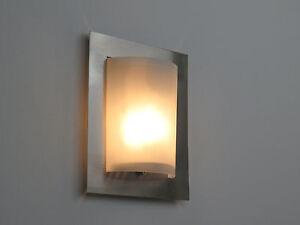 Lampada parete applique design moderno nikel illuminazione interni