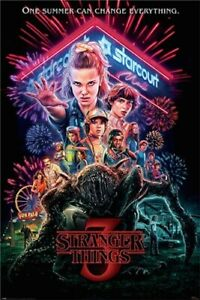Stranger-Things-3-Summer-Of-85-POSTER-61x91cm-NEW-eleven-will-dustin-mind-flayer
