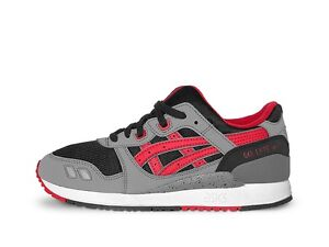 detailed look f6710 b5104 Details about Asics Gel Lyte III GS C6A7L Black/Red C6A7L.9025 Grade School  Sizes UNISEX