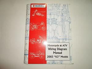 2003 Suzuki Motorcycle & ATV Wiring Diagram Manual Models ...