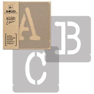 Pochoirs Lettres et Chiffres / 70mm / Typewriter Majuscule / Alphabet Nombres