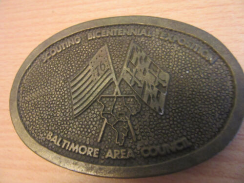 1976 Boy Scouts Scouting Bicentennial Exposition, Baltimore Council Belt Buckle