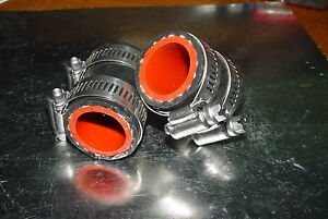 Factory Black Yamaha Banshee rubber exhaust pipe clamps all years fmf,dg