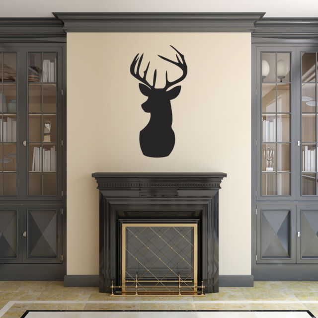 Stag Head Wall Sticker - DIfferent sizes and colours available