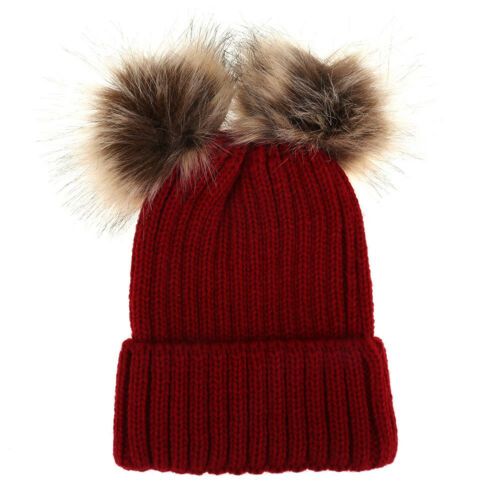 Cute Women Mother Toddler Baby Girl/&Boy Winter Warm Crochet Knit Hat Beanie Cap