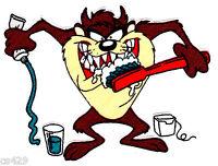 4.5 Looney Tunes Taz Dr Doctor Dentist Nurse Medical Fabric Applique Iron On