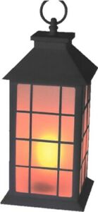 28cm-Tall-Led-Battery-Operated-Flickering-Candle-Lantern-Black-Dinner-Candles