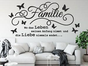 Details zu Wandtattoo Familie ist wo das leben anfängt Wandtattoo  Wohnzimmer Sprüche pkm176