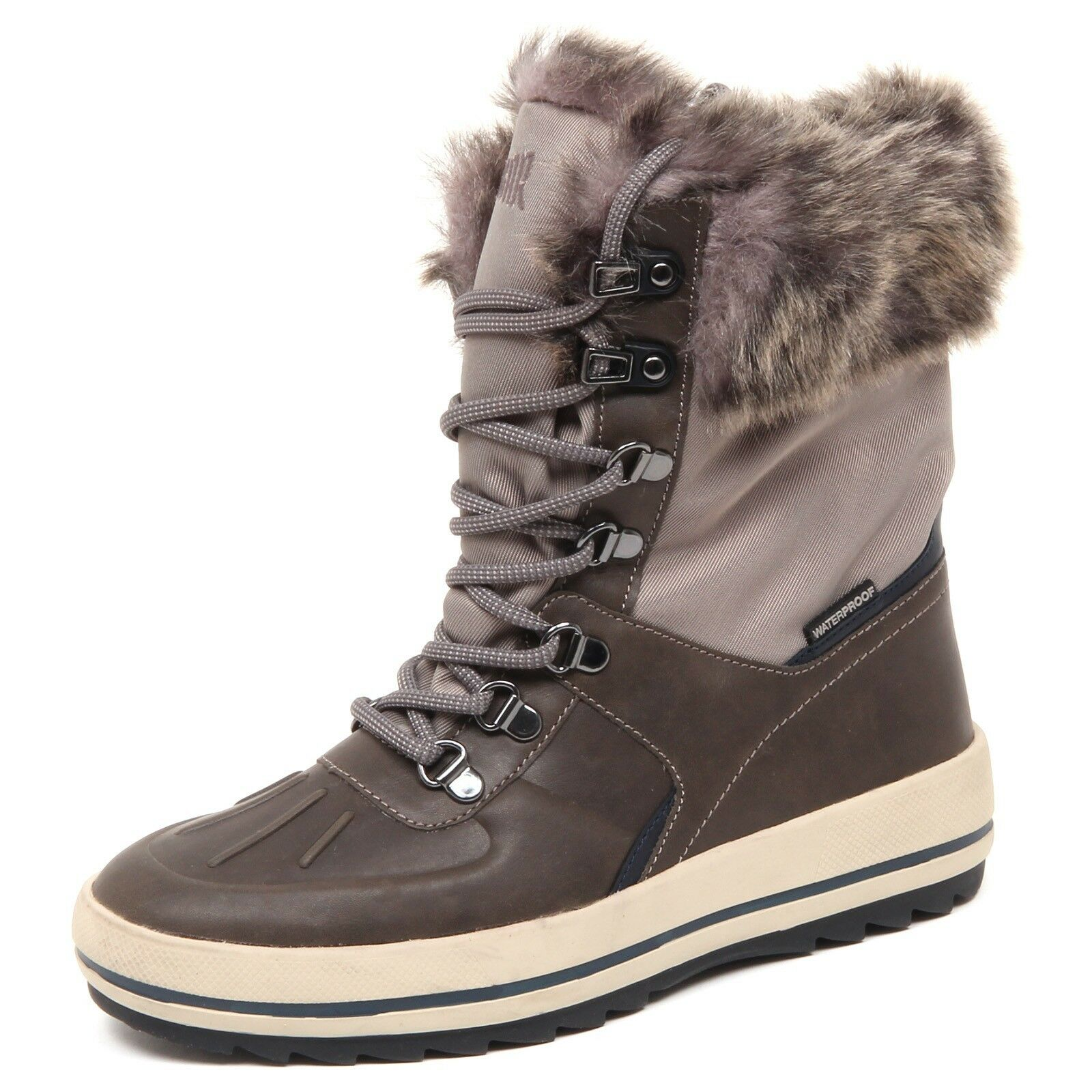 D8498 (without box) stivale donna tissue COUGAR VIPER Marronee taupe avvio woman