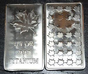 1-4-Unze-Titanbarren-Maple-Leaf-Sammlerstueck-und-Wertanlage