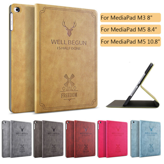 watch bf788 12caf Shell Smart Case Flip Stand Tablet Cover For Huawei MediaPad M3 M5 8.4 10.8