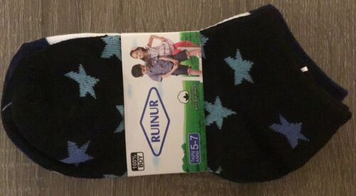 New Pack 3 Pairs Of Boys Trainer Socks Size 5-7