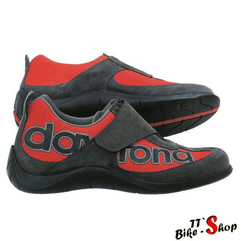 Daytona  moto Fun  zapatos para el ocio y oficina de antracita-rojo, tamaño 44