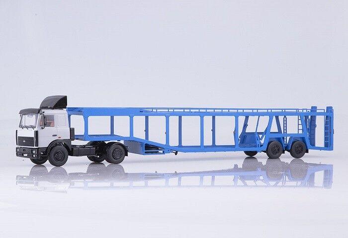Estrellat scale models (SSM) 1 43. maz-6422 with maz-934410 Coche transporte tráiler.