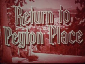 16mm  The Return To Peyton Place Carol Lynley Jeff Chandler Eleanor Parker