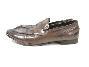 To-Boot-New-York-Adam-Derrick-Brown-Penny-Leather-Loafers-for-men-10-5-Good-Used