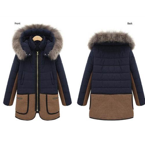 Parka Lungo Cappotto Con Inverno Cappuccio Giacca Caldo Spesso Donna xqfI8R44