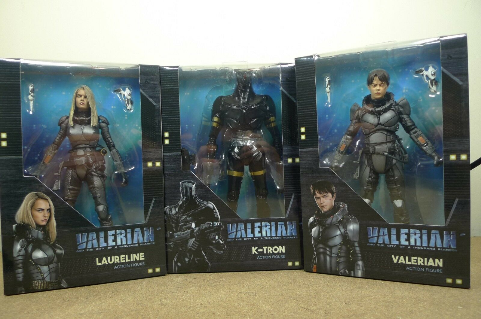 Neca VALERIAN & THE CITY OF A THOUSAND PLANETS Full set of 3 Action Figures BNIB