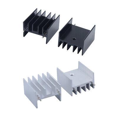 10Pcs 25*23*16MM TO220 Transistor Aluminum Radiator Heat Sink With 2Pin!