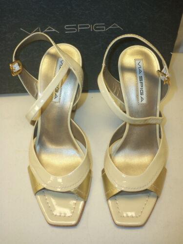 tacco in con 7 sandali nuove in da Spiga oro scarpe pelle con con M 727688802701 cinturino donna Via e cinturino taglia ottone fIgqwa