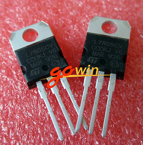 20Pcs LM7805 L7805 7805 TO-220 Voltage Regulator IC top
